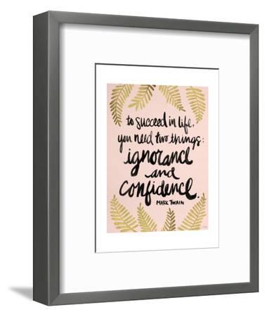 Ignorance and Confidence - Gold and Blush – Cat Coqullette-Cat Coquillette-Framed Premium Giclee Print