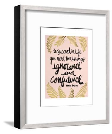 Ignorance and Confidence - Gold and Blush – Cat Coqullette-Cat Coquillette-Framed Giclee Print