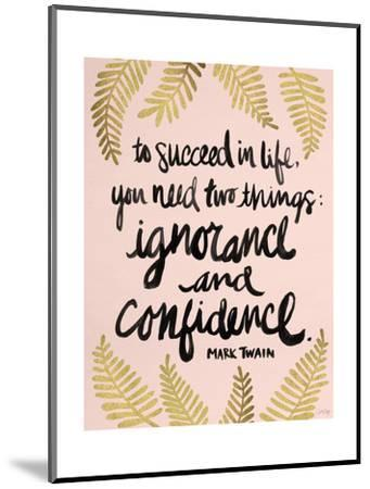 Ignorance and Confidence - Gold and Blush – Cat Coqullette-Cat Coquillette-Mounted Giclee Print