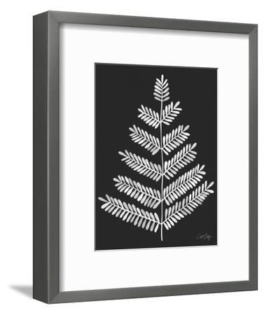 Leaflets in White on Black – Cat Coqullette-Cat Coquillette-Framed Giclee Print