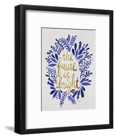 Future is Bright - Navy and Gold-Cat Coquillette-Framed Premium Giclee Print