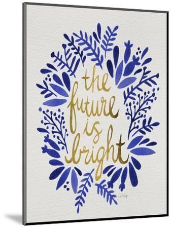 Future is Bright - Navy and Gold-Cat Coquillette-Mounted Premium Giclee Print