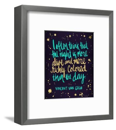 Night Owl in Navy and Gold-Cat Coquillette-Framed Giclee Print