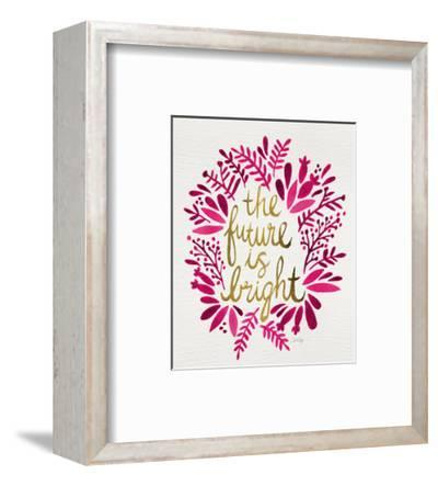 Future is Bright - Pink and Gold-Cat Coquillette-Framed Giclee Print