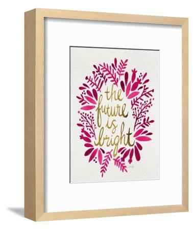 Future is Bright - Pink and Gold-Cat Coquillette-Framed Premium Giclee Print