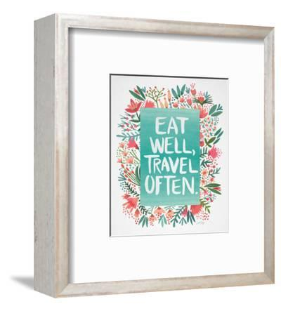 Eat Well Travel Often - Floral-Cat Coquillette-Framed Giclee Print