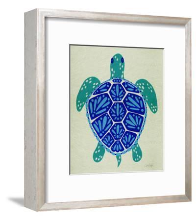 Sea Turtle in Blue– Cat Coquillette-Cat Coquillette-Framed Giclee Print