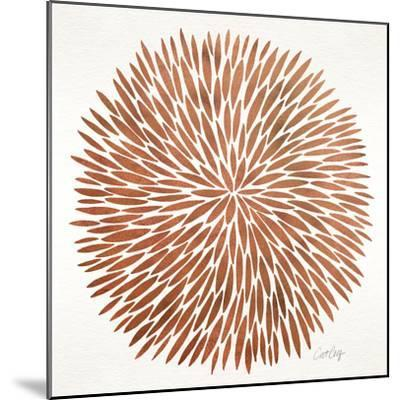 Burst in Rose Gold Palette-Cat Coquillette-Mounted Giclee Print