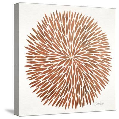 Burst in Rose Gold Palette-Cat Coquillette-Stretched Canvas Print