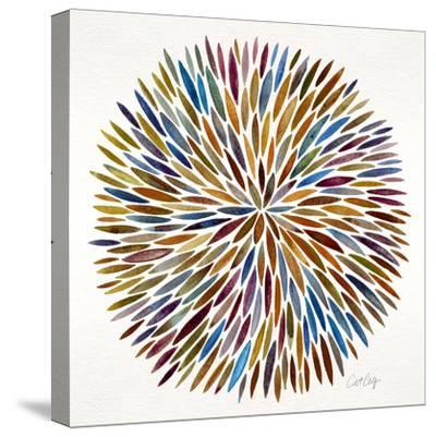 Burst in Retro Palette-Cat Coquillette-Stretched Canvas Print