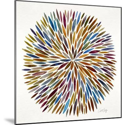 Burst in Retro Palette-Cat Coquillette-Mounted Giclee Print