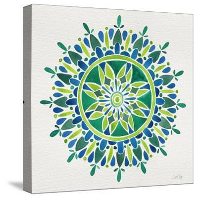 Mandala in Green-Cat Coquillette-Stretched Canvas Print