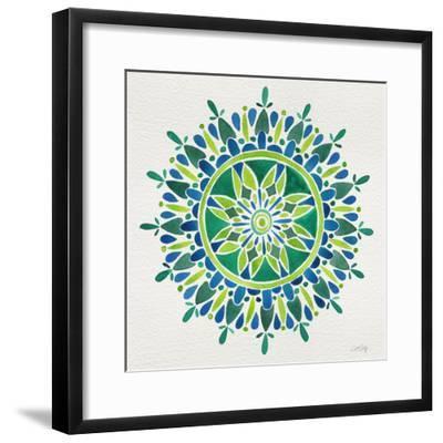 Mandala in Green-Cat Coquillette-Framed Giclee Print