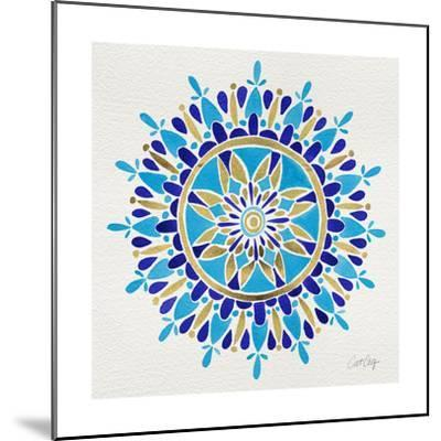 Mandala in Navy and Gold– Cat Coquillette-Cat Coquillette-Mounted Giclee Print