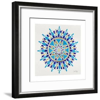 Mandala in Navy and Gold– Cat Coquillette-Cat Coquillette-Framed Giclee Print