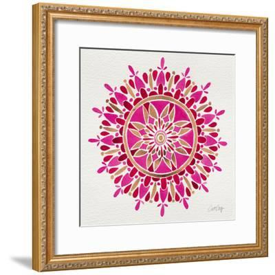 Mandala in Pink and Gold-Cat Coquillette-Framed Giclee Print