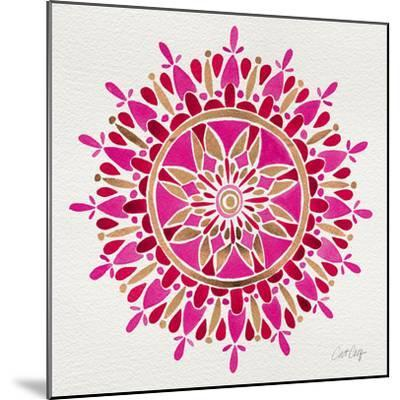 Mandala in Pink and Gold-Cat Coquillette-Mounted Giclee Print