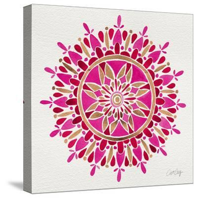 Mandala in Pink and Gold-Cat Coquillette-Stretched Canvas Print
