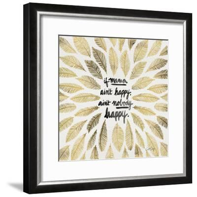 If Mama Aint Happy - Gold and Black – Coquillette-Cat Coquillette-Framed Giclee Print