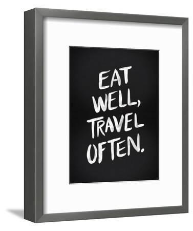 Eat Well Travel Often - White Ink-Cat Coquillette-Framed Premium Giclee Print