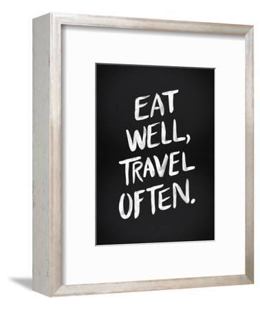 Eat Well Travel Often - White Ink-Cat Coquillette-Framed Giclee Print