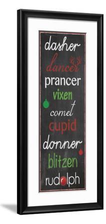 Reindeer Name Game-Lauren Gibbons-Framed Premium Giclee Print