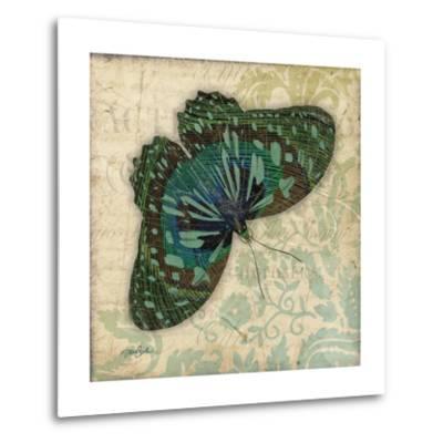 Peacock Bfly 2-Diane Stimson-Metal Print