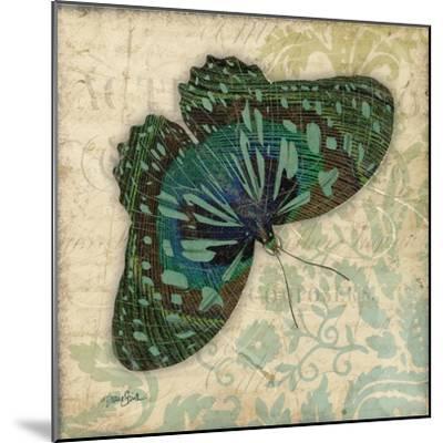 Peacock Bfly 2-Diane Stimson-Mounted Art Print