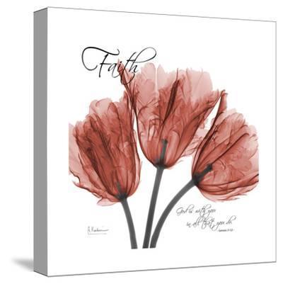 Royal Red Tulip, Faith-Albert Koetsier-Stretched Canvas Print