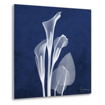 Three Indigo Calla Lilies-Albert Koetsier-Metal Print