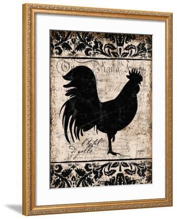 Black Rooster 1-Diane Stimson-Framed Art Print