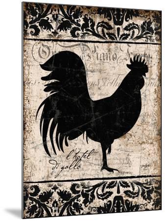 Black Rooster 1-Diane Stimson-Mounted Art Print