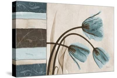 Blue Scroll Tulip-Albert Koetsier-Stretched Canvas Print