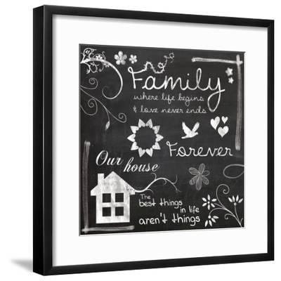 Family Chalk-Lauren Gibbons-Framed Art Print