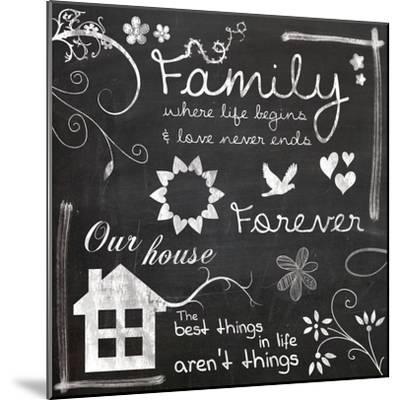 Family Chalk-Lauren Gibbons-Mounted Art Print