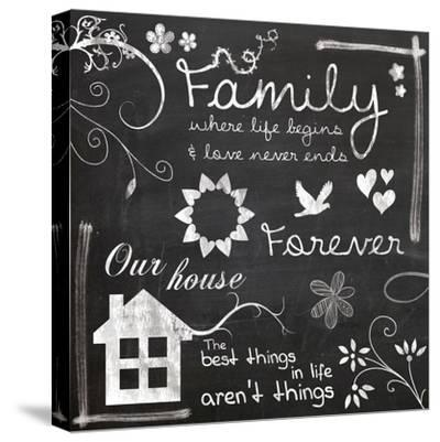 Family Chalk-Lauren Gibbons-Stretched Canvas Print