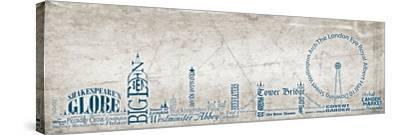London Skyline Blue-Diane Stimson-Stretched Canvas Print