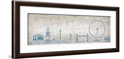 London Skyline Blue-Diane Stimson-Framed Art Print