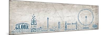 London Skyline Blue-Diane Stimson-Mounted Art Print