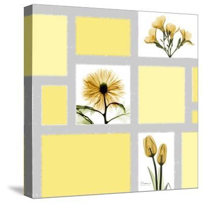 Mondrian Flowers 2-Albert Koetsier-Stretched Canvas Print