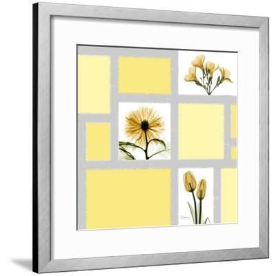 Mondrian Flowers 2-Albert Koetsier-Framed Premium Giclee Print