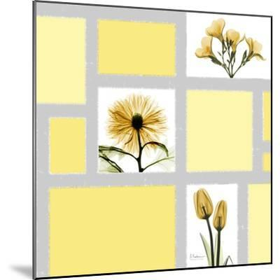 Mondrian Flowers 2-Albert Koetsier-Mounted Premium Giclee Print