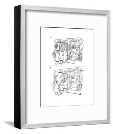 New Yorker Cartoon-Carl Rose-Framed Premium Giclee Print