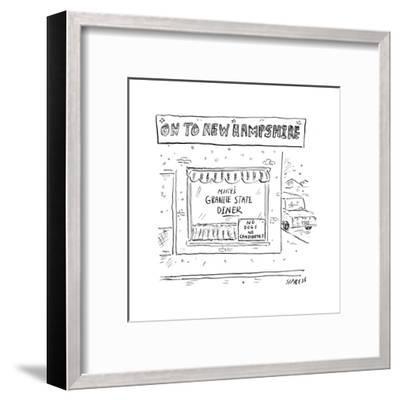 On to New Hampshire - Cartoon-David Sipress-Framed Premium Giclee Print