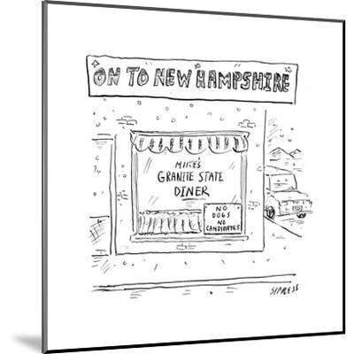 On to New Hampshire - Cartoon-David Sipress-Mounted Premium Giclee Print