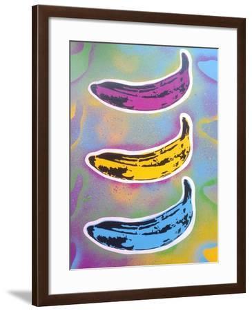 Banana Goes Pop-Abstract Graffiti-Framed Giclee Print
