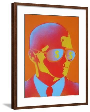Dollar Bills-Abstract Graffiti-Framed Giclee Print