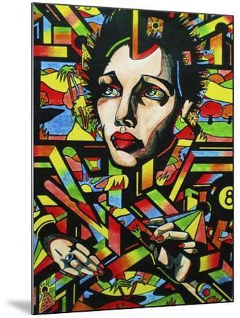 Eightball-Abstract Graffiti-Mounted Giclee Print