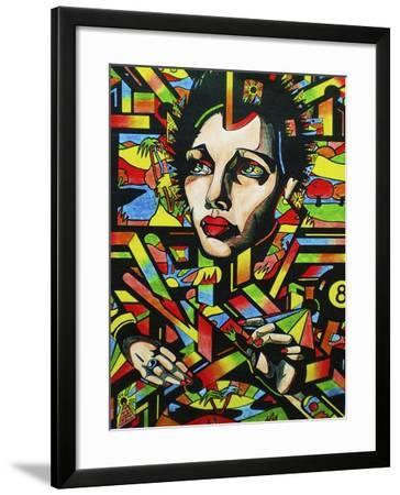 Eightball-Abstract Graffiti-Framed Giclee Print