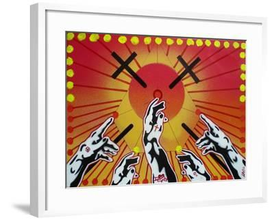 Worship-Abstract Graffiti-Framed Giclee Print